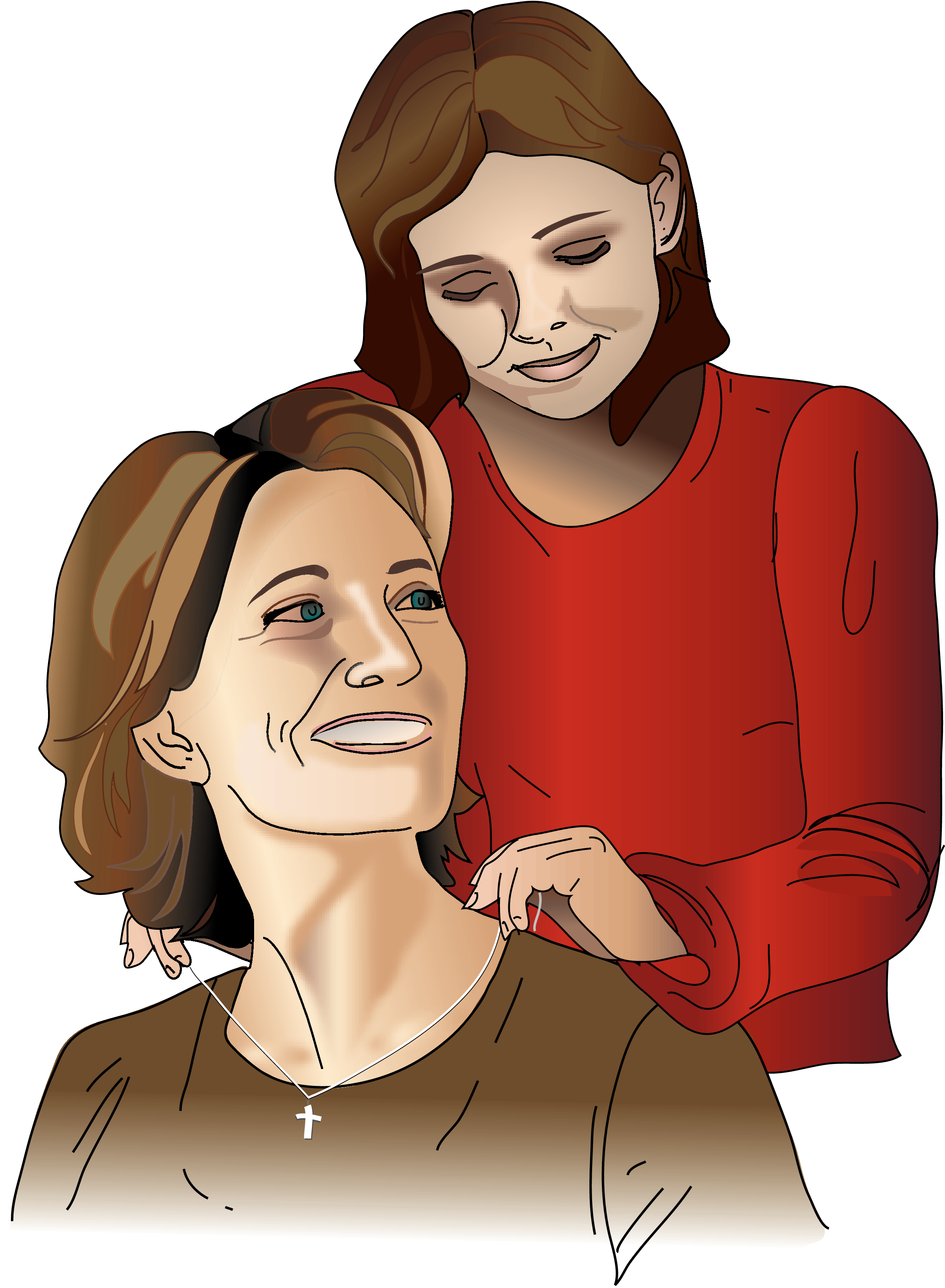 Banquet at grace gives. Mother clipart mother daughter relationship