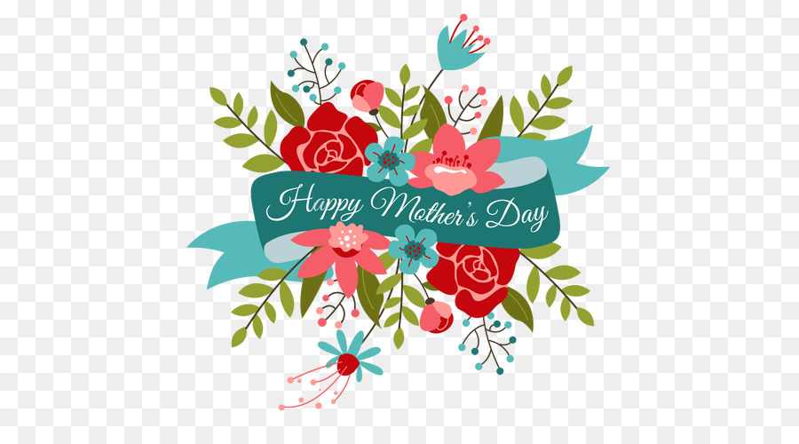 Cartoon illustration . Mother clipart mothers day flower