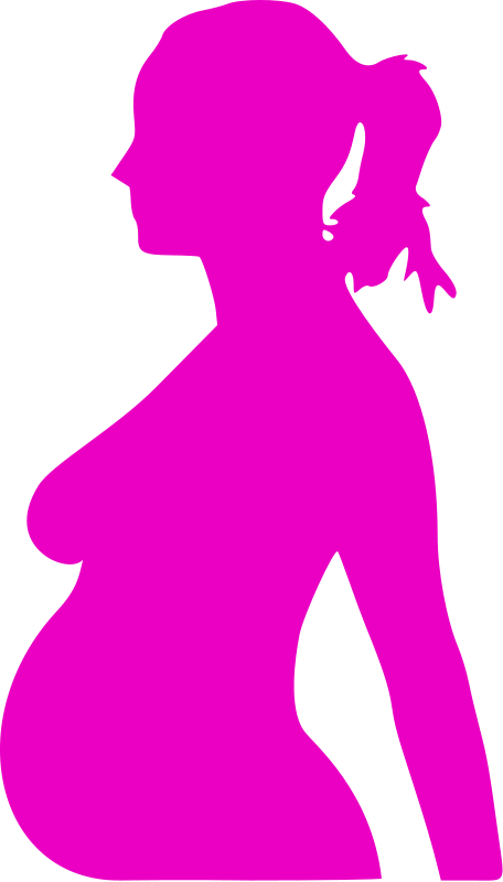 Woman silhouette at getdrawings. Pregnancy clipart pregnant mum