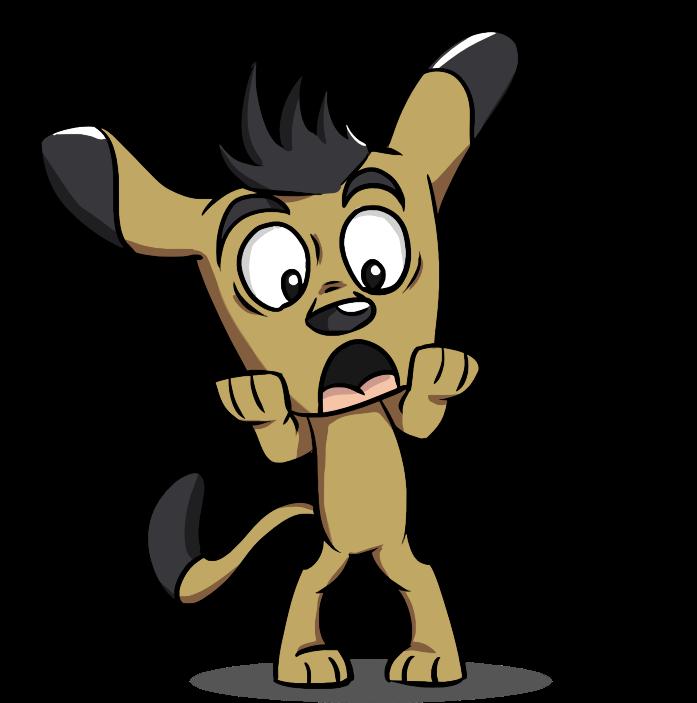 Surprised group puppy. Surprise clipart symbol