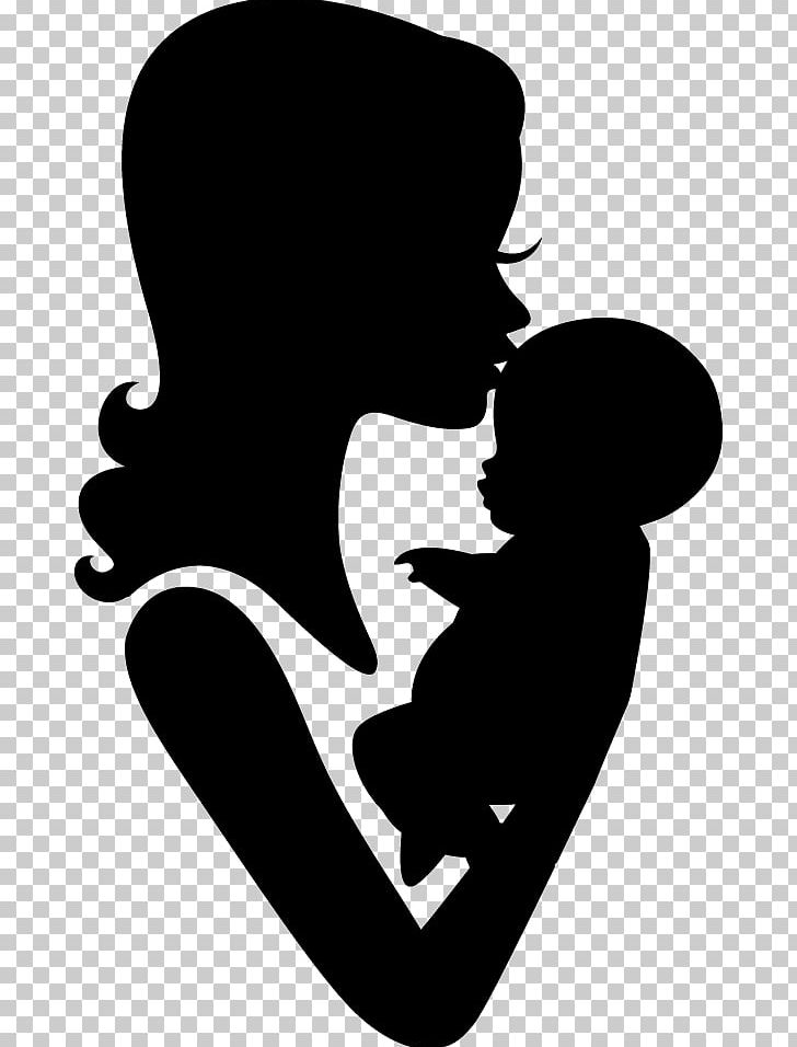 Mother clipart silhouette. Drawing stencil png free