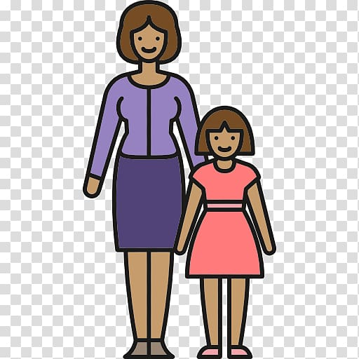 Mother clipart single parent family. Transparent background