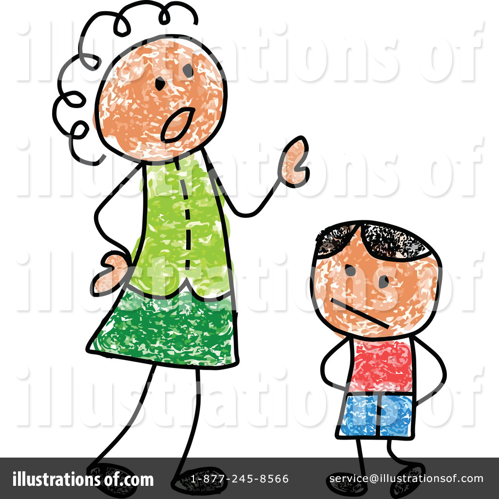 Mother clipart strict. Illustration by c charley