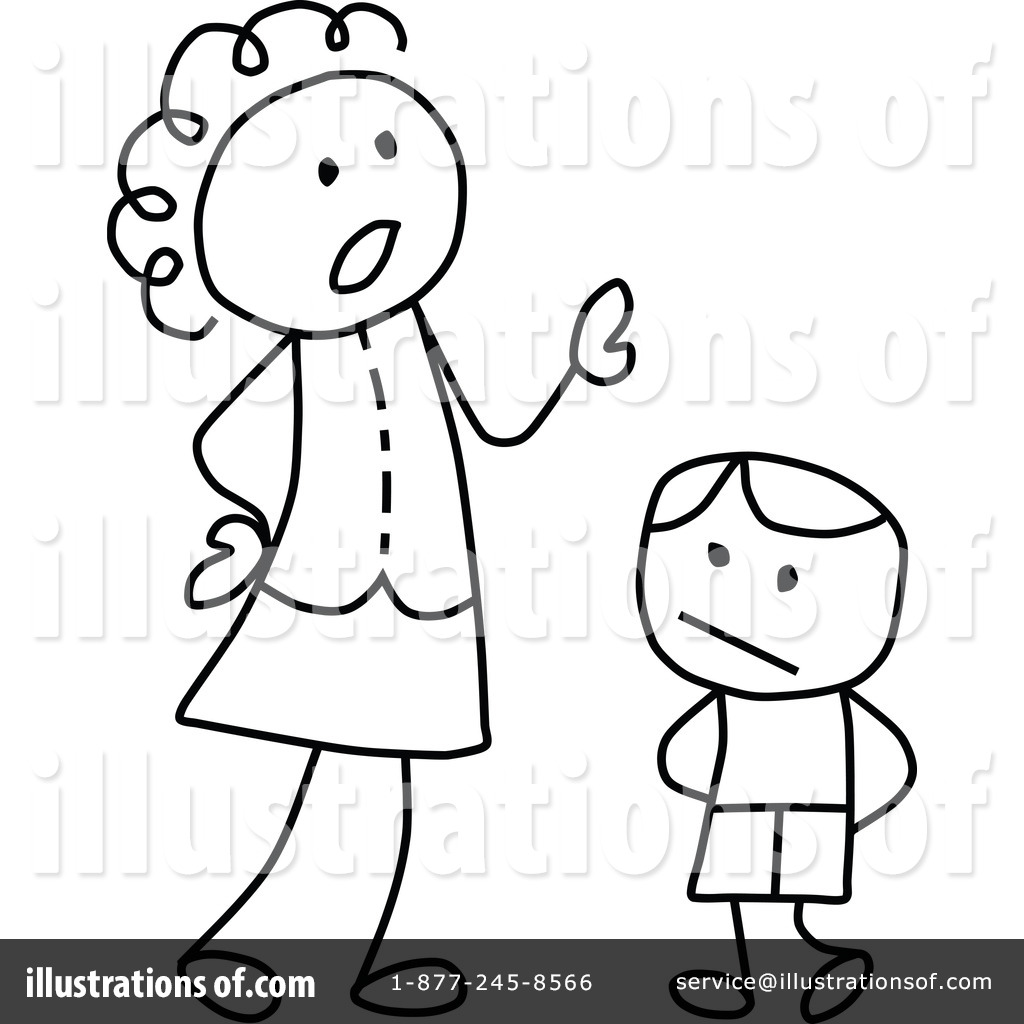 Illustration by c charley. Mother clipart strict