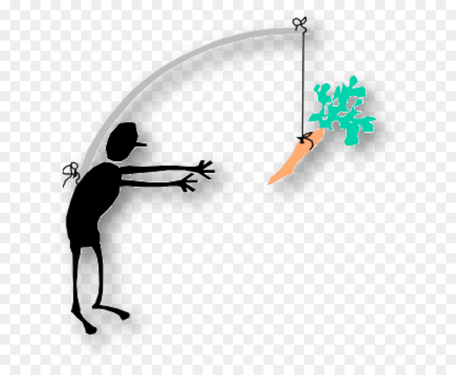 Employee carrot and stick. Motivation clipart