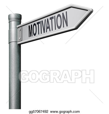 Motivation clipart. Stock illustration drawing gg