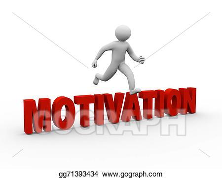 Motivation clipart 3d man. Stock illustration d jumping