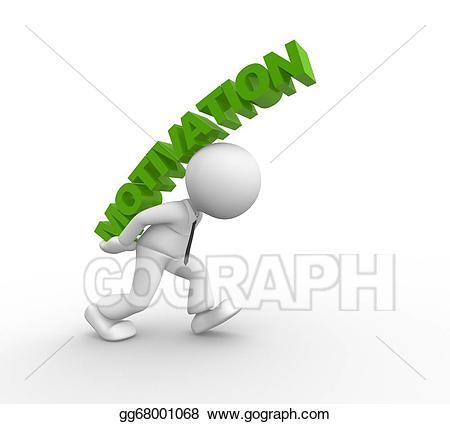 Stock illustration gg gograph. Motivation clipart 3d man