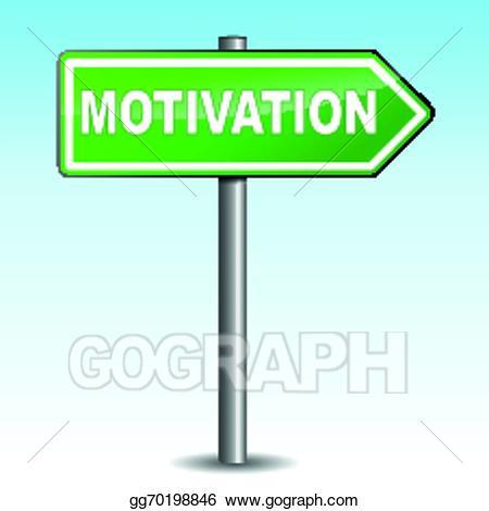 Eps vector sign stock. Motivation clipart arrow