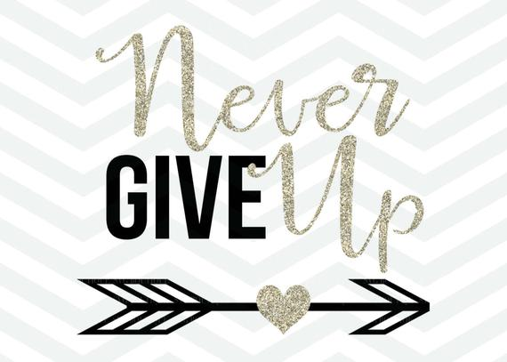Motivation clipart arrow. Never give up svg