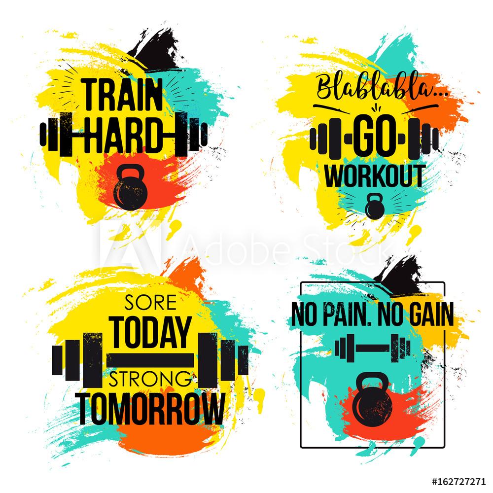Fotografie obraz gym and. Motivation clipart fitness motivation