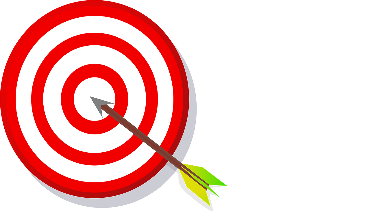 The guide to achieve. Motivation clipart goal target