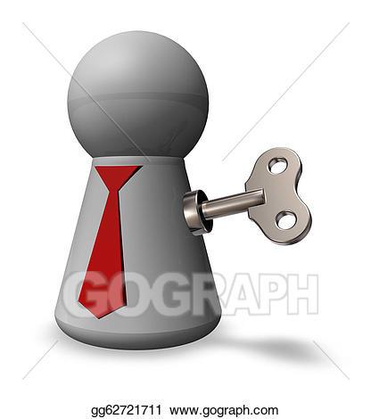 Stock illustration drawing gg. Motivation clipart key