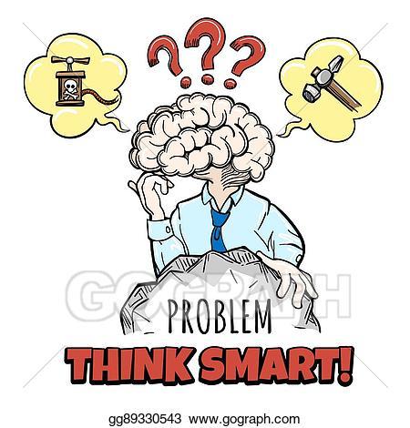 Motivation clipart sketch. Eps illustration human brain