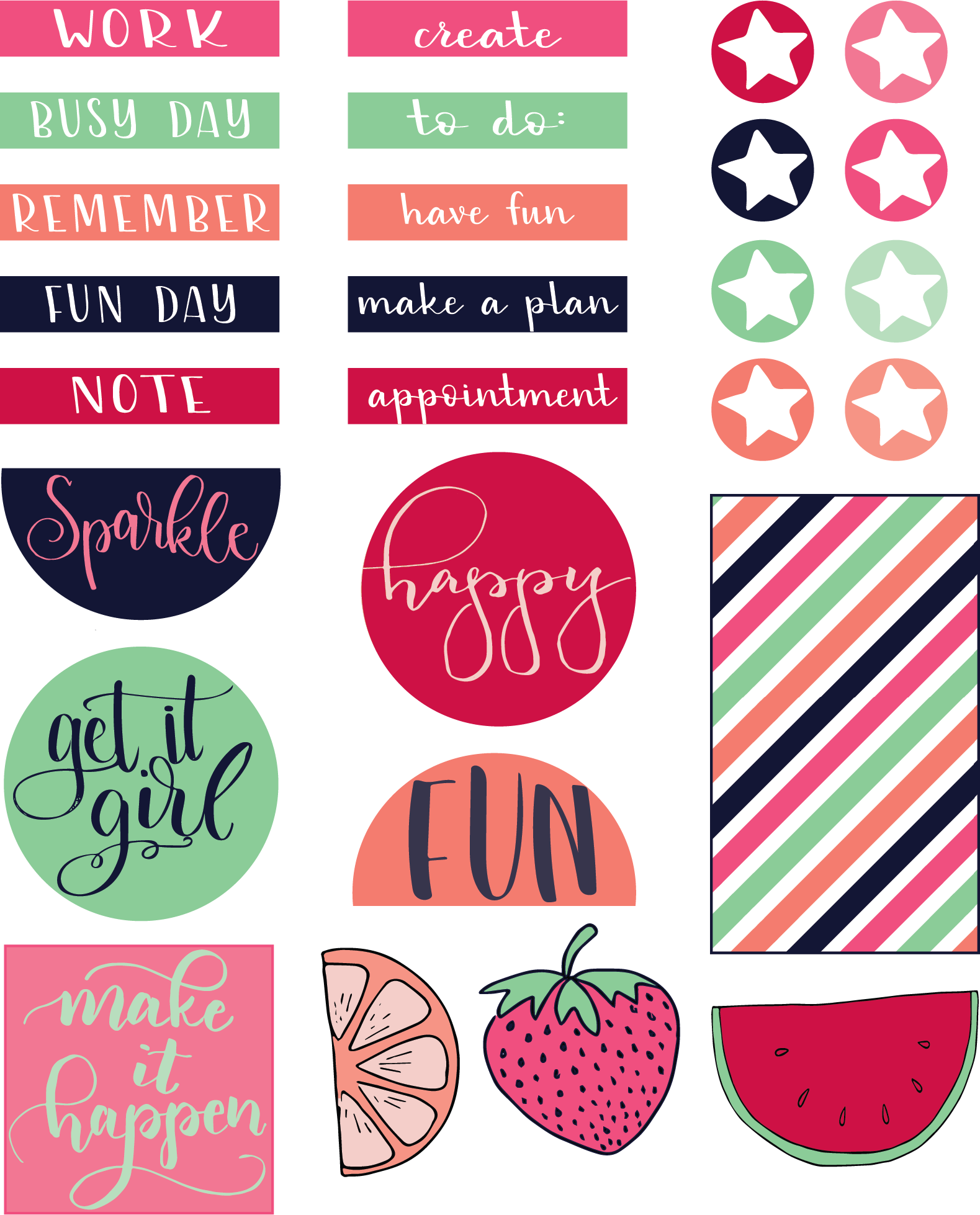 Free printable stickers liz. Planner clipart appointment book