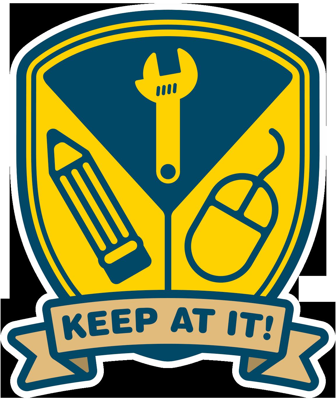 Motivation clipart sticker. Keep at it peter