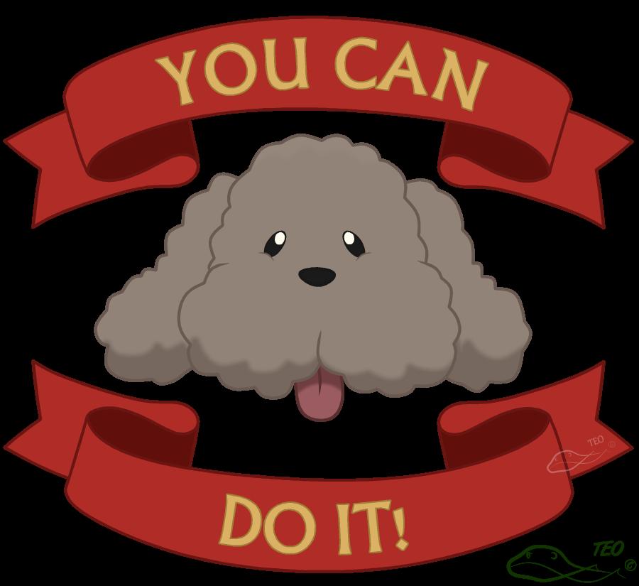 Motivational makkachin by the. Motivation clipart test motivation