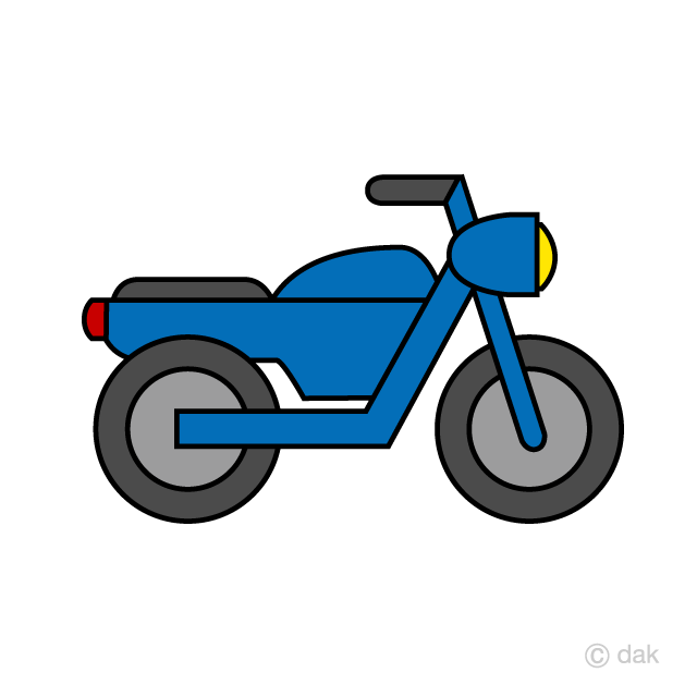 Simple free picture illustoon. Motorcycle clipart