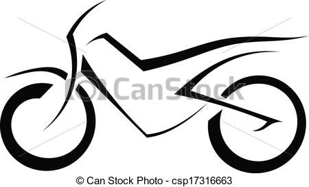 Black and white panda. Motorcycle clipart