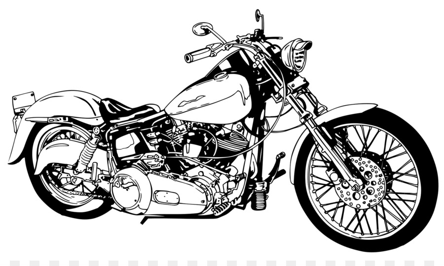 Motorcycle clipart. Harley davidson chopper clip