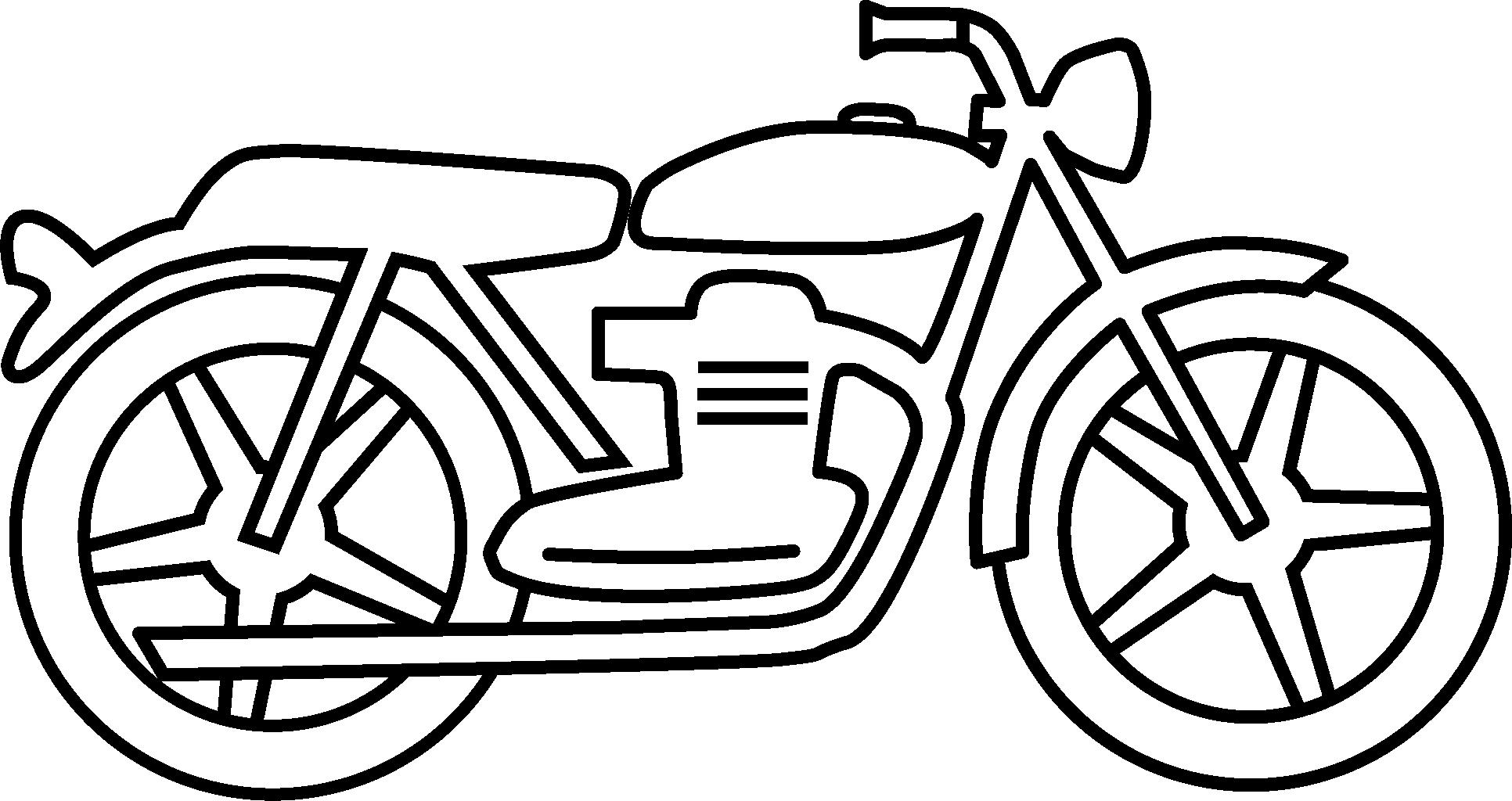 Fresh black and white. Motorcycle clipart