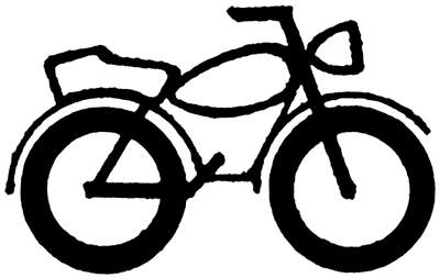 Motorcycle clipart. Black and white panda