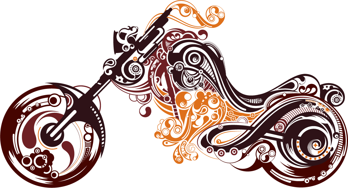 Motorcycle clipart abstract. Download tattoo art free