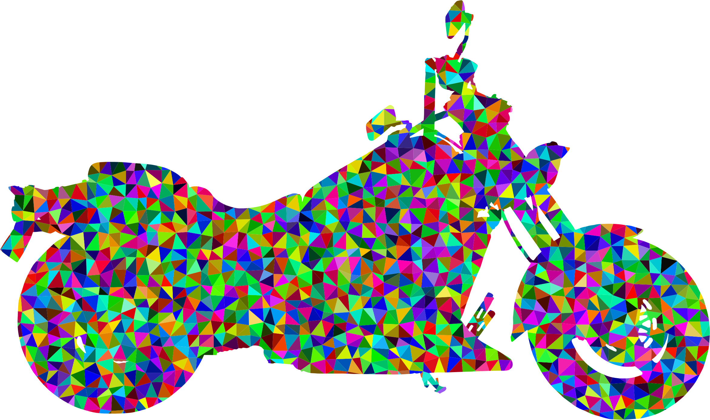 Prismatic low poly big. Motorcycle clipart abstract