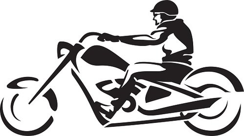 Motorcycle clipart abstract. Chopper ride premium