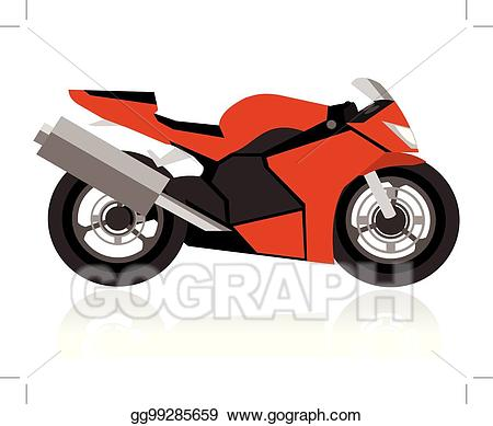 Vector racing . Motorcycle clipart abstract
