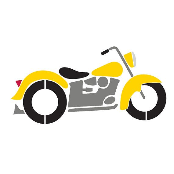 Motorcycle clipart baby. Stencil for painting kids