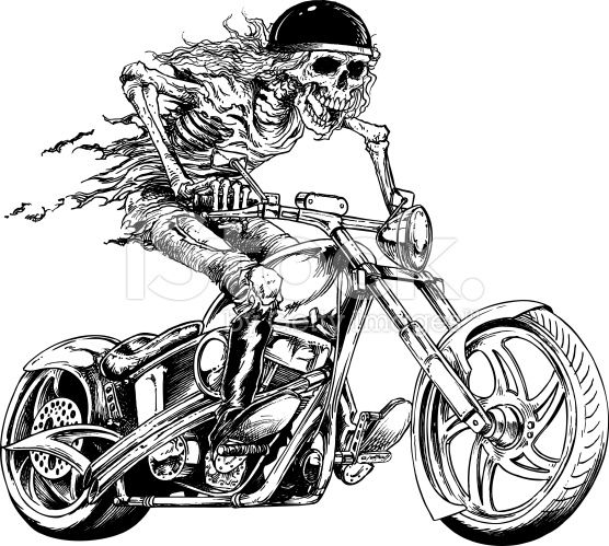 Skull silos tattoos . Motorcycle clipart biker