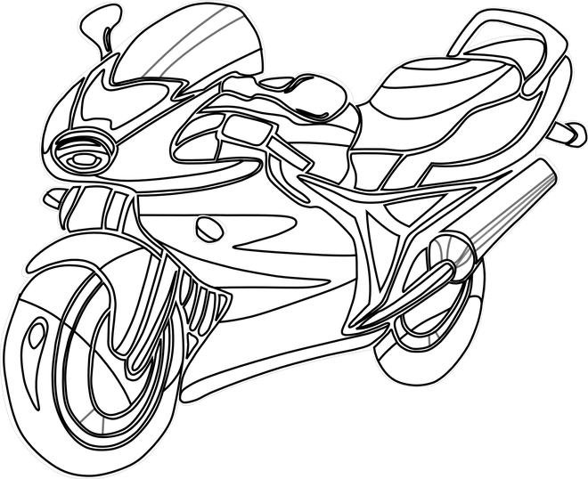 Black and white free. Motorcycle clipart bitmap