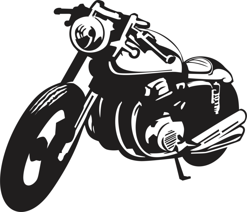 Free images photos download. Motorcycle clipart black and white