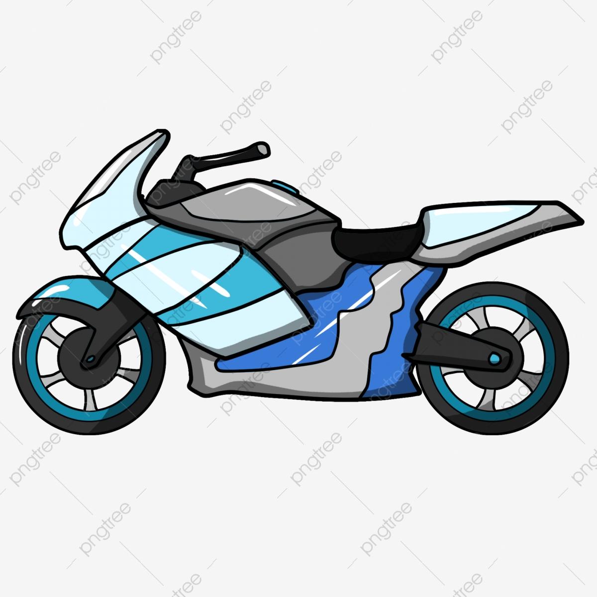 Motorcycle clipart blue motorcycle. Cartoon locomotive