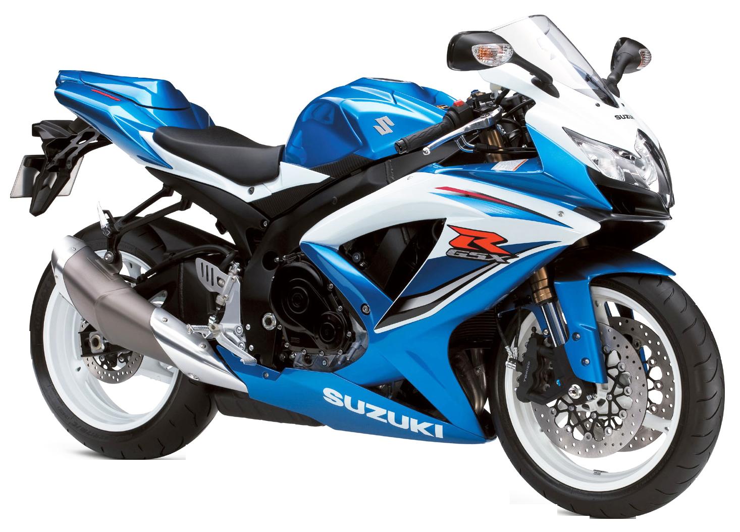Blue Suzuki GSX R