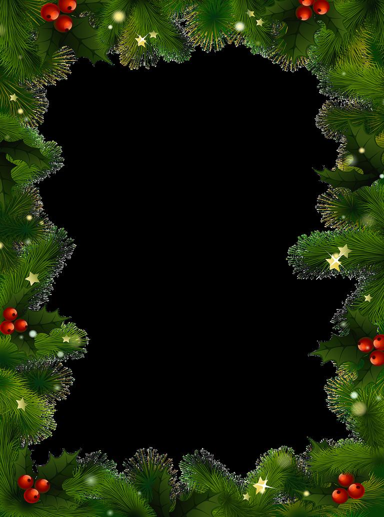 Christmas card frame png. Border page