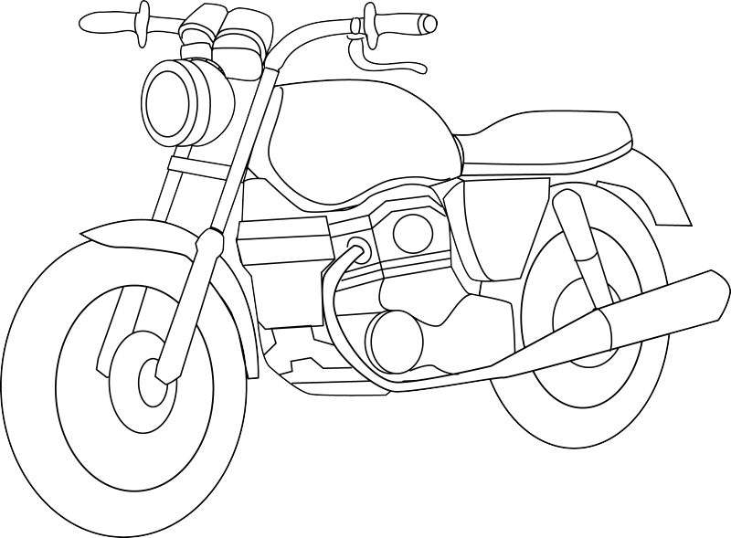 Black and white free. Motorcycle clipart car wash