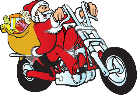 Clip art library . Motorcycle clipart christmas