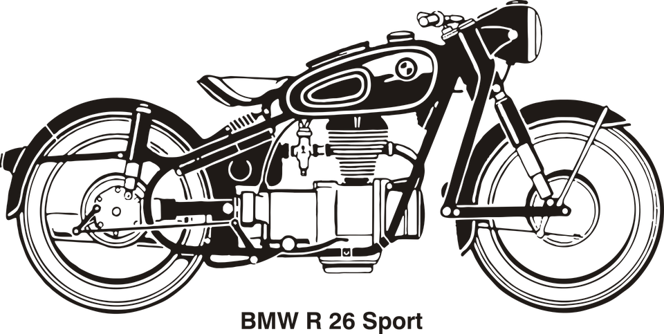 Motorcycle clipart cute. Bmw vintage free collection