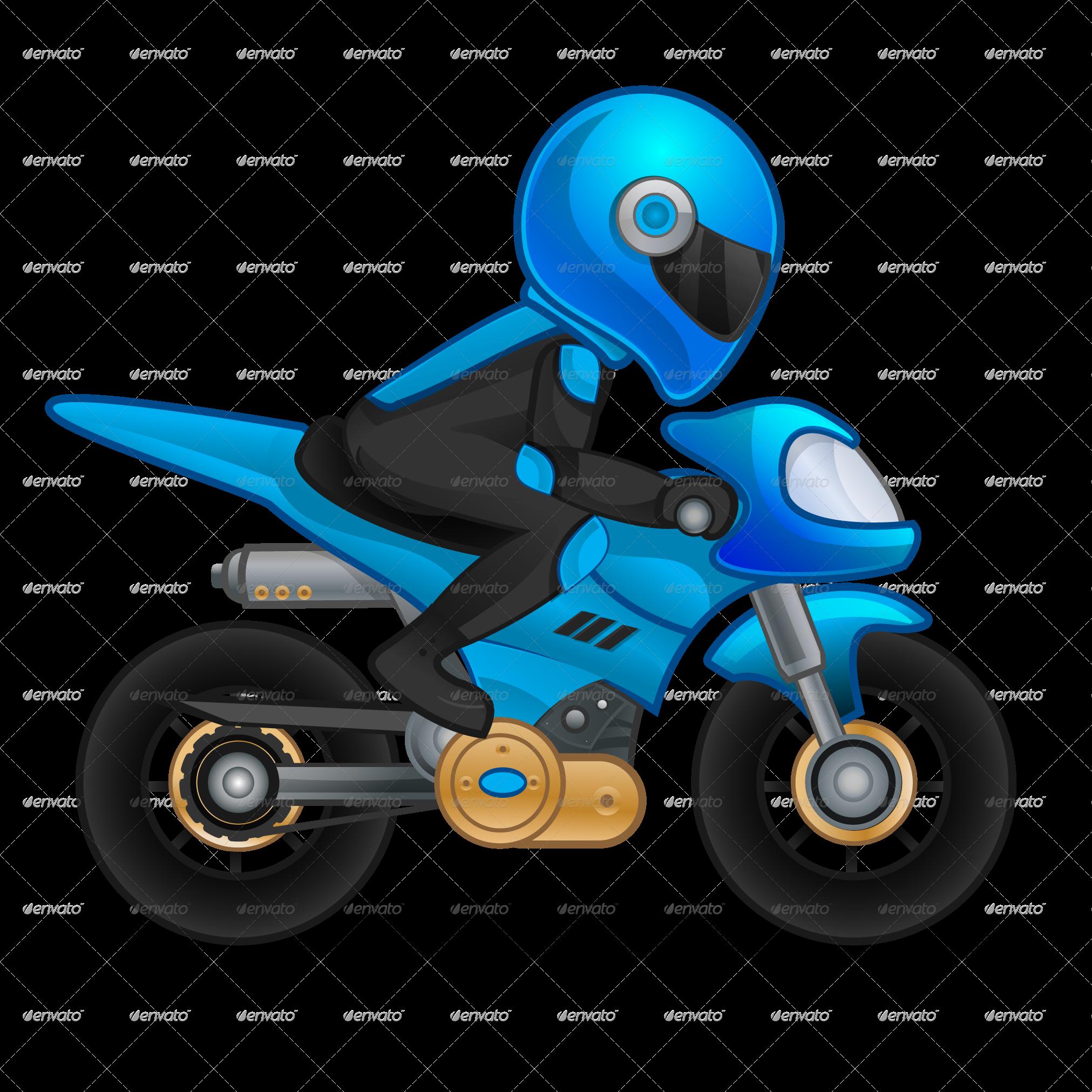 Cartoon motorbike free download. Motorcycle clipart cute