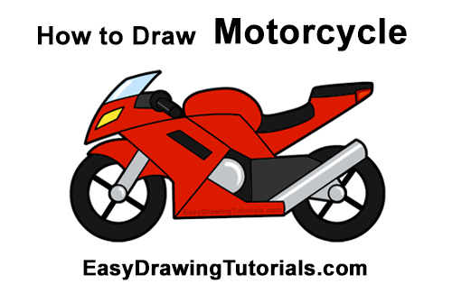 Motorcycle clipart easy. How to draw a