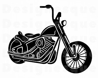 Motorcycle clipart easy. Vibrant stunning etsy clip