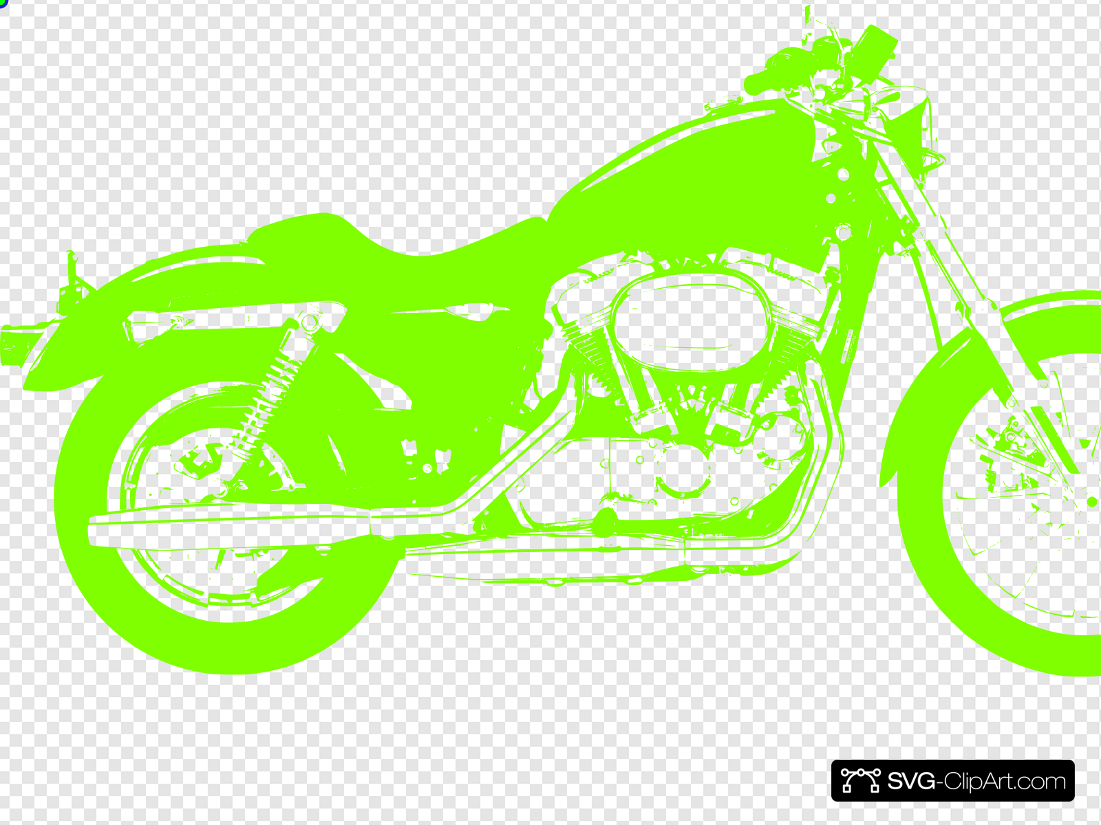 Neon clip art icon. Motorcycle clipart green motorcycle
