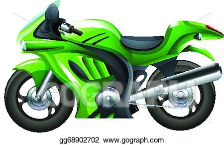 Motorcycle clipart green motorcycle. Vector art a eps