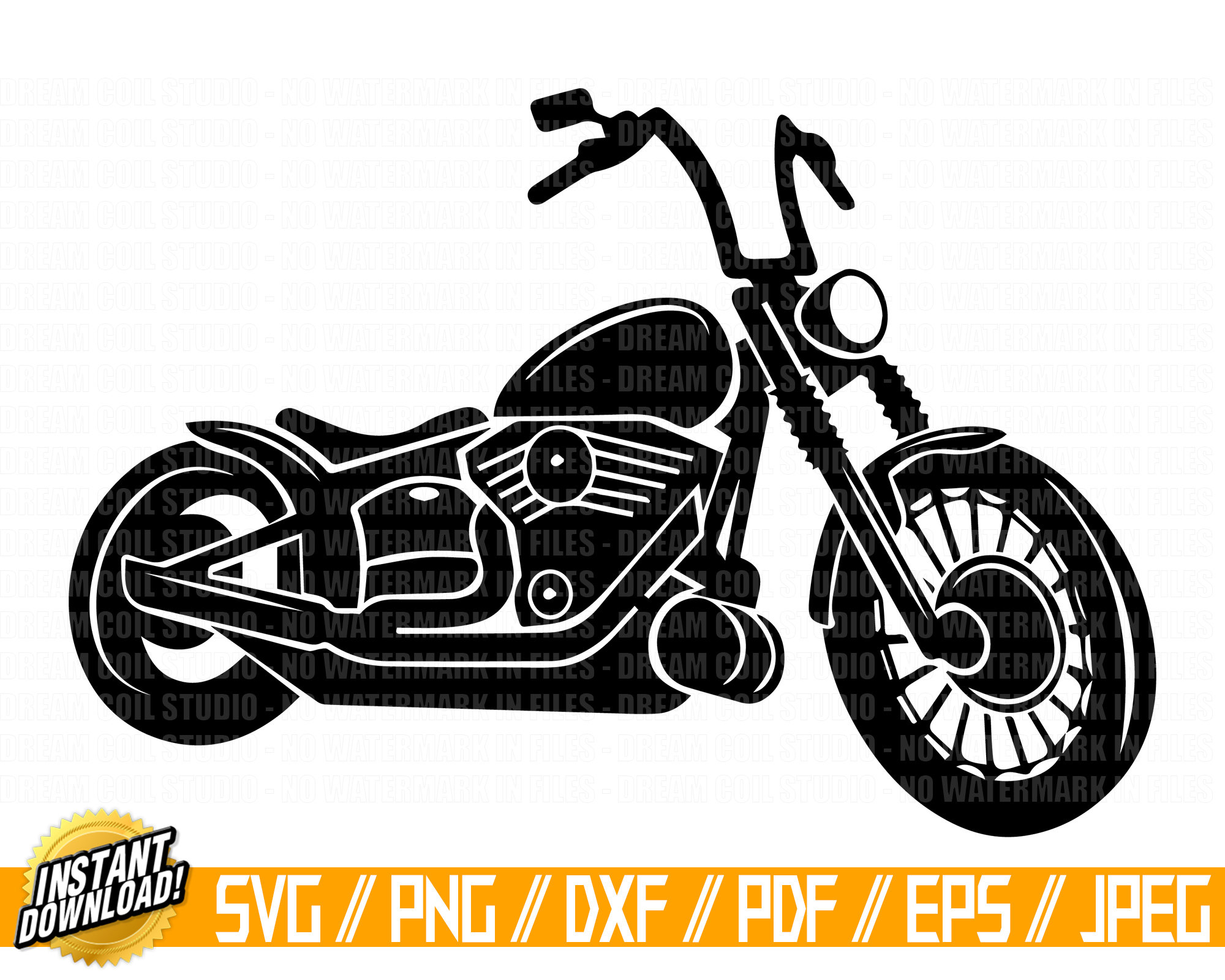 Svg png dxf cut. Motorcycle clipart jpeg