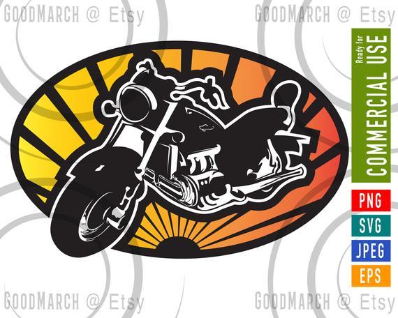 Logo svg eps png. Motorcycle clipart jpeg