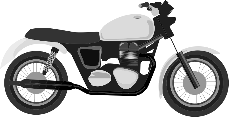 Grayscale medium image png. Motorcycle clipart land transportation