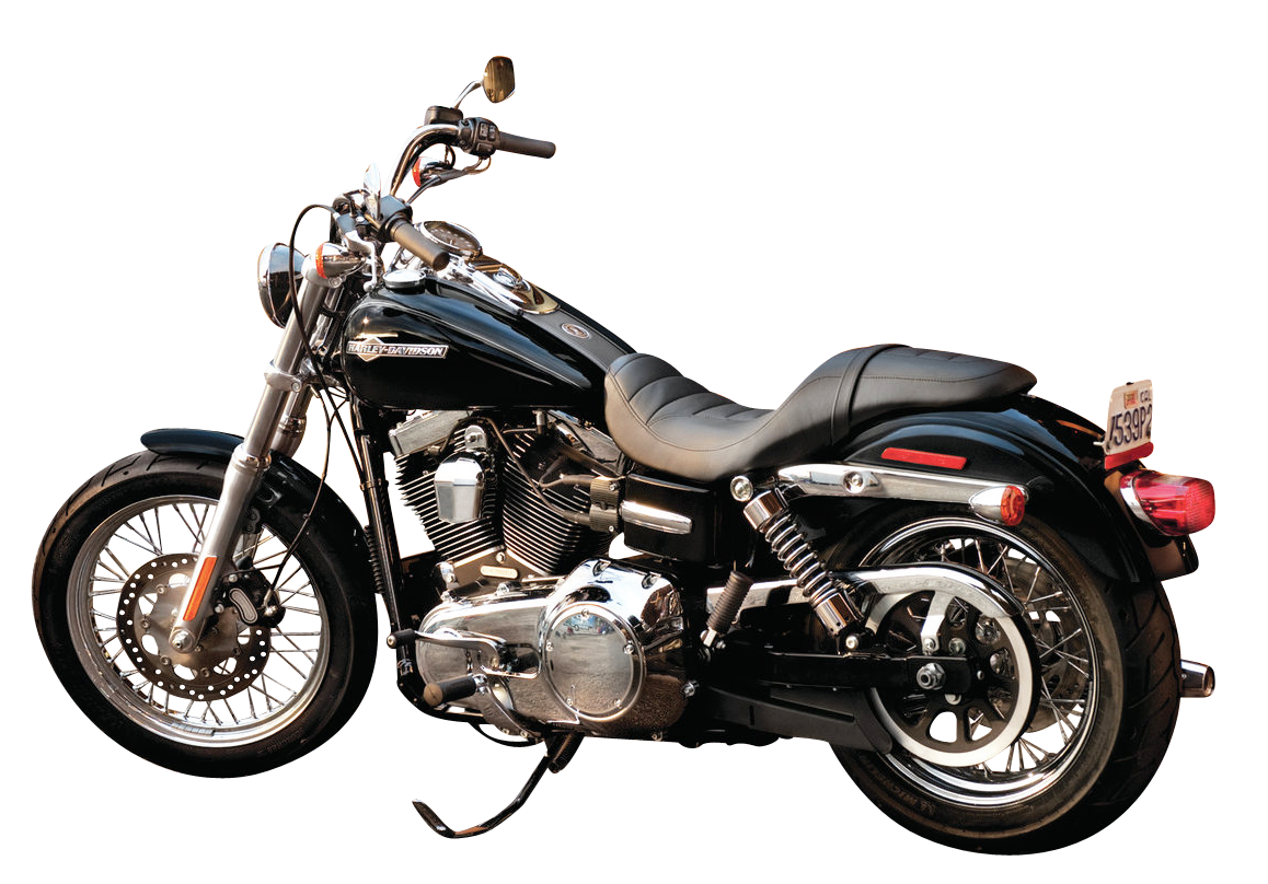 Motorcycle clipart land vehicle. Black harley davidson bike