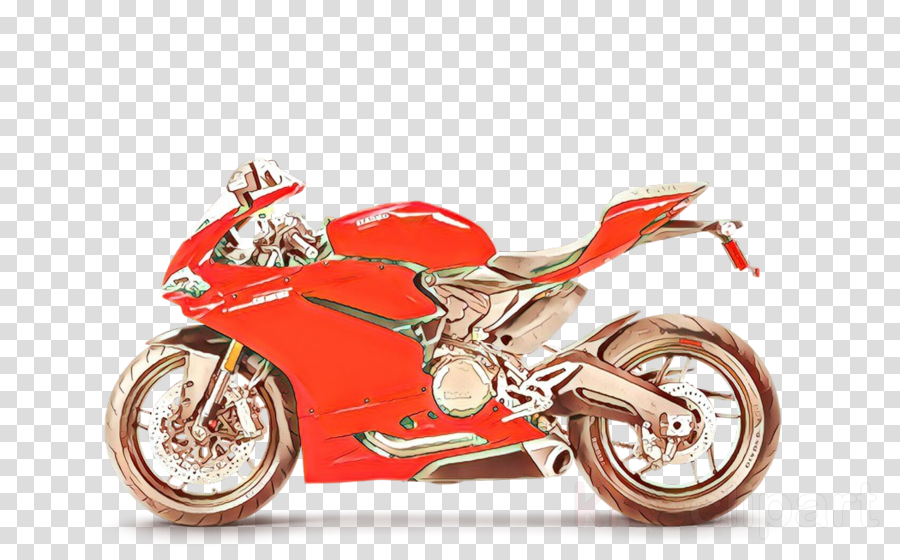 Motor red . Motorcycle clipart land vehicle